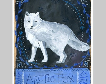 Animal Totem Print - Arctic Fox