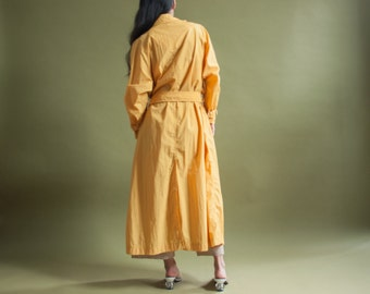 coming soon - yellow trench rain coat / vintage spy coat / 80s rain coat / s / 1989o