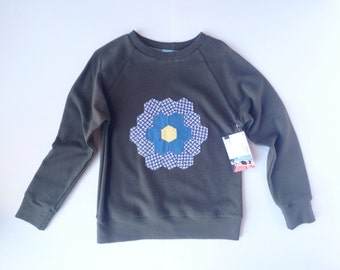 Child's sweatshirt with vintage applique