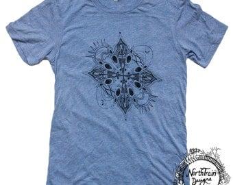 Kayak Mandala Unisex Men's Women's Tee Shirt