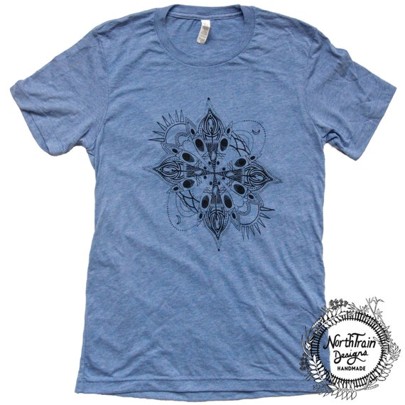 Kayak Mandala Unisex Men's Women's Tee Shirt