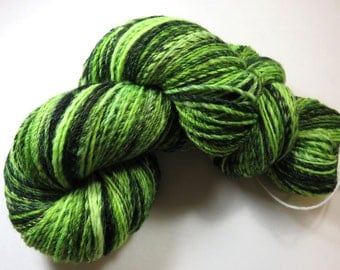 SALE 20 Percent Off -- Hand Dyed Hand Spun Sport, Navajo Plied 3-Ply Superwash Merino Sock Yarn -- Manic Melon (105 grams / 370 yards)