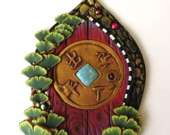 Peace Garden Zen Fairy Door, Tooth Fairy Door, Miniature Fairy Garden Decor, Fantasy Collectible