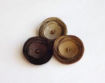 Pick 3 Silk Poppies Baby Snap Hair Clips, Hair Pins