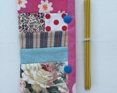 Custom Order for Susan: Double Pointed Knitting Needle Holder Patchwork 6 inch