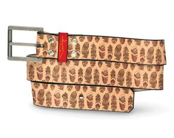 Native Feather Leather Belt, Feather Belt, Leather Belt Native, Feathers, Southwest