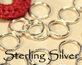 Jumprings SS 8MM 18GA Sterling Silver