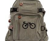 Biking Backpack, Canvas Backpack, Bicycle Bag, Rucksack, Small Backpack, Lightweight Backpack, Hipster, Road Bike, Women & Men Backpack