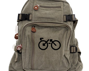Biking Backpack, Canvas Backpack, Bicycle Bag, Rucksack, Small Backpack, Lightweight Backpack, Hipster, Road Bike, Women & Men Backpack