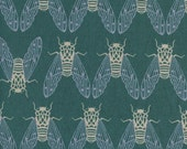Cotton + Steel Raindrop Canvas - cicada song mist - fat quarter