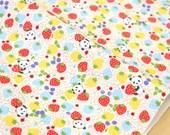Japanese Fabric Kobayashi Panda Strawberry - 50cm