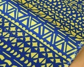 Japanese Fabric Kokka Ellen Baker - Rough Cut - Mosaic - blue - 50cm