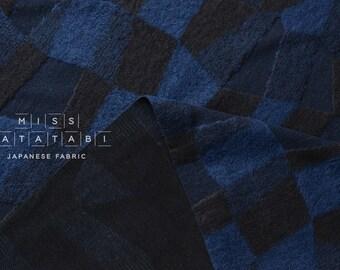 Japanese Fabric Kokka Olu Amu - jacquard knit - indigo blue - 50cm