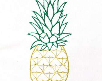 Machine Embroidery Tropical Summer Pineapple Embroidery File design 5x7 hoop