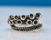Beautiful octopus ring 14k white gold tentacle rings open shank design by Zulasurfing