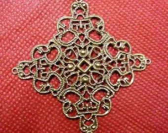 24pc antique bronze metal filigree center piece/wraps-2888x3