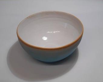 Turquoise and white Stoneware bowl.