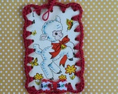 Vintage Playing Card Book Mark / Ornament - Lovely Lamb
