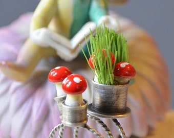 Mini Red Cap Mushroom Stacking Rings