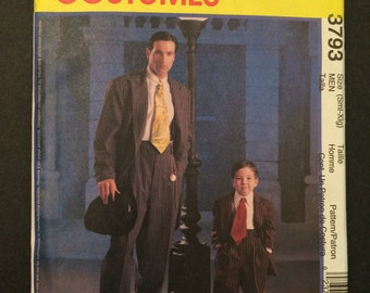 Gangster Costume McCall's 3793 Pattern Men's Zoot Suit Pattern