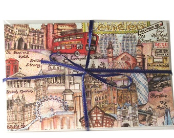 London notecards with envelopes