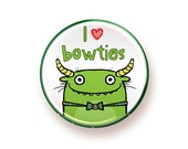 I heart Bowties - round magnet