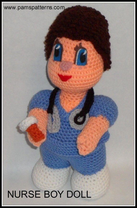 Nurse Dolls Crochet Patterns, crochet nurses, nurse doll, crochet dolls from ...