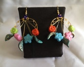 Bright and bold statement SPRING earrings