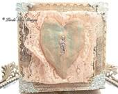 Frozen Charlotte Keepsake Box Shabby Decor Handmade Clay and Cast Solder Mixed Media Jewelry Box