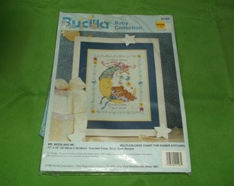 Bucilla Baby Collection Coss Stitch Mr. Moon and Me Sampler kit