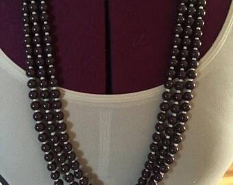 Beautiful Mala Inspired Three String Vintage Boho Necklace