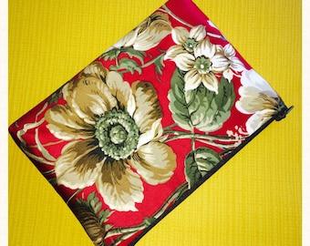 Vintage Fabric Clutch Bag, Evening Bag, Make Up Bag