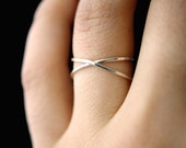 Sterling Silver X ring, silver criss cross ring, silver X ring, x ring, silver cross ring, criss cross ring, sterling silver cross ring