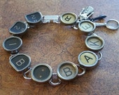 221B BAKER - Antique Typewriter Key Bracelet