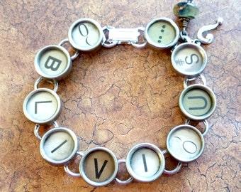OBLIVIOUS - Antique Typewriter Key Bracelet