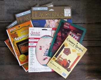 Lot of Appliques, Iron on Transfers and Cross Stitch Kits