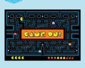 PAC MAN 'Game On' Printable Backdrop - Instant Download PDF