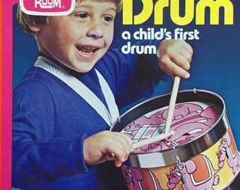 Romper Room Child's FIRST DRUM Vintage New in Box Musical Zoo