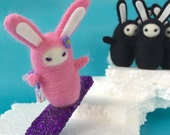 Jewel the Ninja Snowboard Bunny, Complete with Icicle Nunchuks
