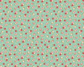 Farm Girl - By October Afternoon - For Riley Blake - Pie Tins - Teal ((C5025) - 1 Yard - 9.95 Dollars