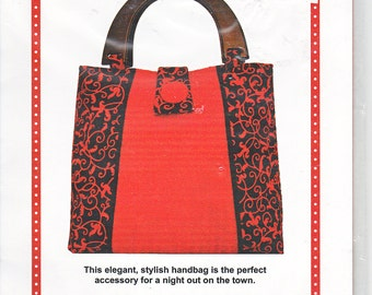 Patterns By Annie PBA 127 On The Town Handbag Sewing Pattern Out of Print UNCUT