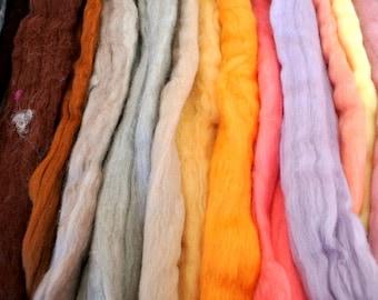 SALE-Merino wool, SUPER FINE super wash roving, 18 colors, 6.65oz / 190gram for spinning,felting, weaving