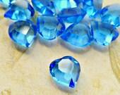 12 Vintage Swarovski 8x8mm Transparent Sapphire Crystal Heart Jewels Art 4815 (43-16-12)