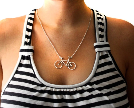 Handmade Sterling Silver Bike Necklace- Rachel Pfeffer