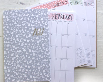 2017 weekly planner mini sheets with cover choices