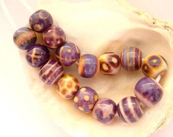15 Handmade Lampwork Beads