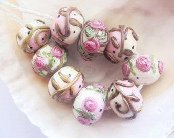 RESERVED - 9 Handmade Lampwork Beads