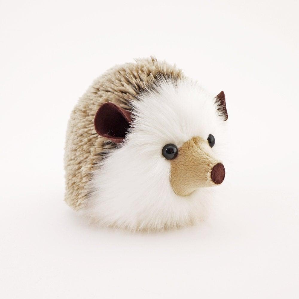 Stuffed Animal Toys : Stuffed hedgehog animal sebastian the plush toy brown