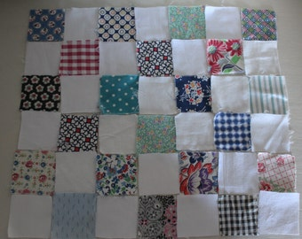 Vintage Fabric Squares for DollQuilt