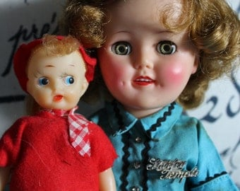 Shirly TemPle 1950's doll with friend
